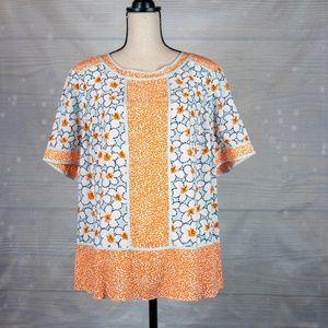 Boden Floral & Polka Dot Blouse Size 18